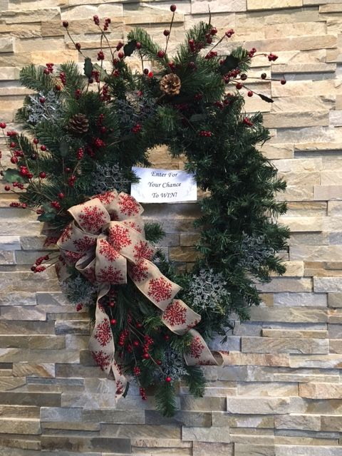 Support our Optometry Giving Sight Fundraiser and Enter to win this gorgeous Holiday wreath!!