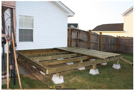 No dig deck using dek block piers decks for Building a house on piers
