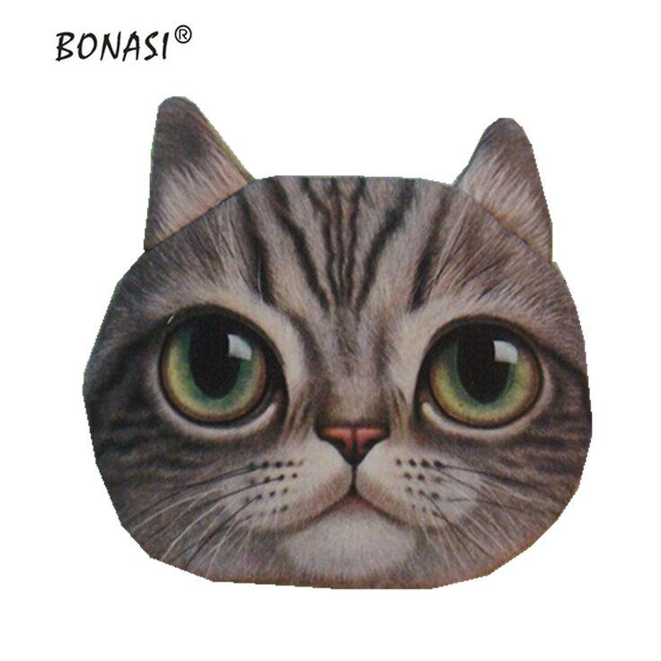 Leuke Portable Cartoon Katten Honden animal print Rits Portemonnee 3D Meisjes Tassen Nieuwe Kleine Nul Portefeuilles