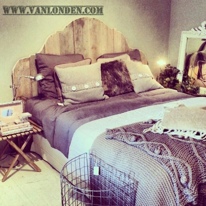 2persoons bed van steigerhout