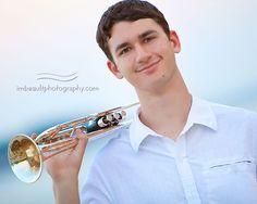 trumpet senior portrait - Google Search