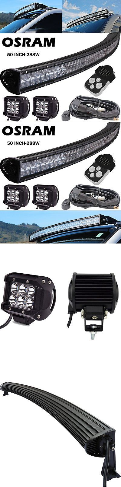 Car Lighting: Curved Uproof 50 Led Work Light Bar Atv Utv Rzr Can Am Polaris Rhino Cadillac -> BUY IT NOW ONLY: $128.79 on eBay!
