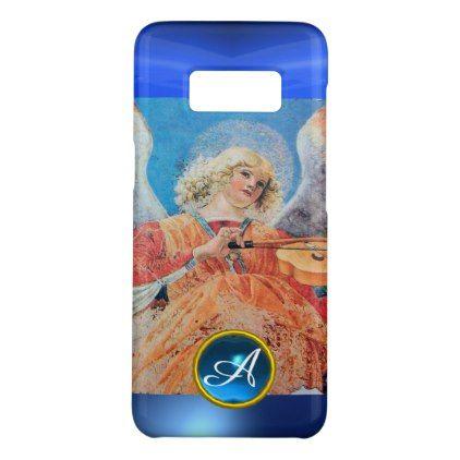 MUSICAL ANGEL  Blue Sapphire Gemstone Monogram Case-Mate Samsung Galaxy S8 Case - Xmas ChristmasEve Christmas Eve Christmas merry xmas family kids gifts holidays Santa