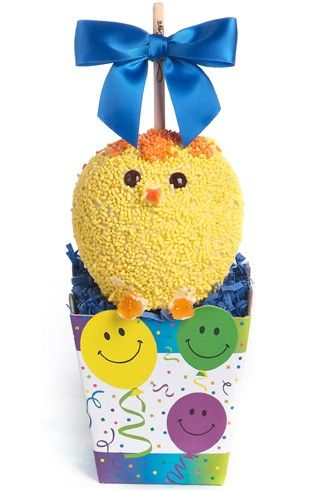 Spring Chick Caramel Apple Gift Pack - http://www.amysgourmetapples.com/gifts-by-season/easter-spring-gifts/spring-chick-caramel-apple-gift-pack.html