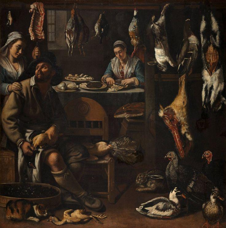 Keukenstuk, Italiaanse school (Bologna?), 16e eeuw, 1590 - 1600 | Museum Boijmans Van Beuningen