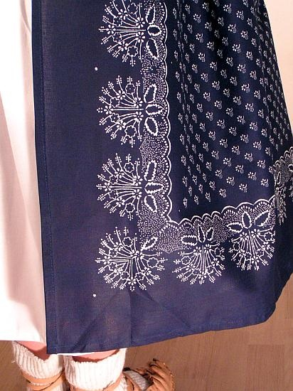 The apron of the folk costume of Moravian Wallachia