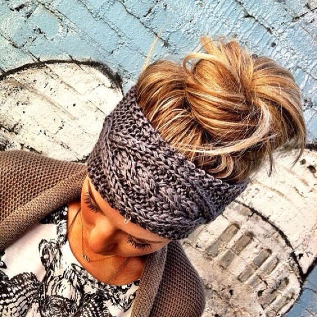 Headband!Hair Colors, Head Wraps, Ears Warmers, Messy Buns, Head Band, Knits Headbands, Knit Headband, Cable Knits, Crochet Headbands