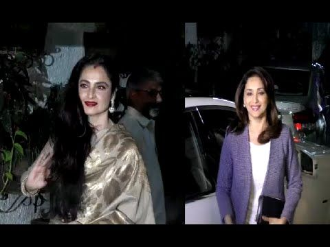Rekha & Madhuri Dixit spotted at the special screening of BAJIRAO MASTANI. See the full video at : https://youtu.be/pckjMrJ1CuA #rekha #madhuridixit #bajiraomastani