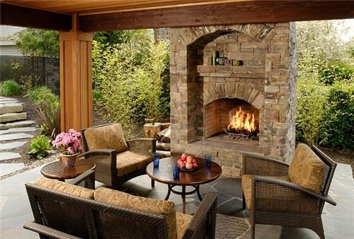 ornate outdoor fireplace | Backyard FireplaceOutdoor FireplaceBig Sky Landscaping Inc.Portland ...