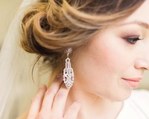 Silver Art Deco Earrings, Greta
