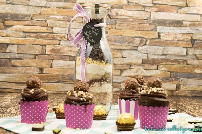 Ferrero Rocher Muffins – auch als Backmischung im Glas