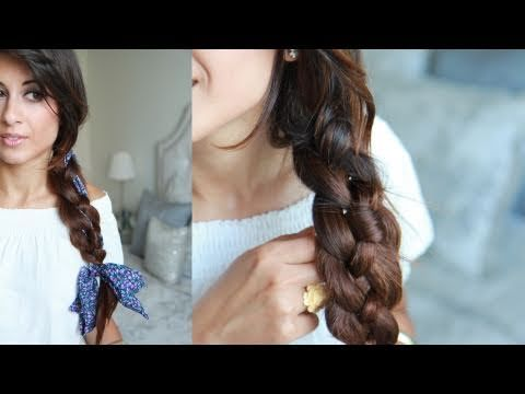 Want to learn how to do an easy four strand braid? I will show you how in this tutorial:)   For this tutorial I've used:   - Luxy Clip-in Hair extensions - http://www.luxyhair.com  160 g set (Chocolate Brown - 4)  - Hair Brush  - Hair elastic  - Fabric headband from Aldo      COMMENT RULES: We do not tolerate any rude or irrelevant comments. If these ru...