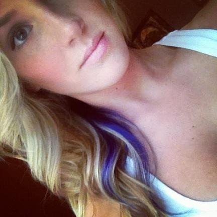 Pop of Purple Hair!! | LUUUX