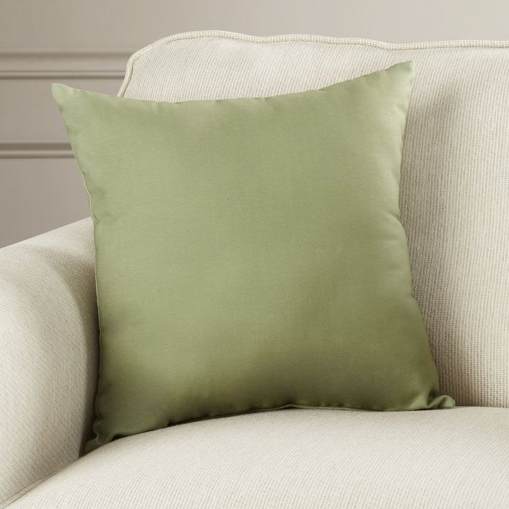 Sage. Stuffed with foam for a full square silhouette, it is wrapped in 100% polyester for a versatile look. Worried your master suite may be falling flat instead? Try tossing a trio of these bright pillows to y...