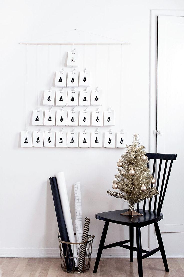 DIY Modern Advent Calendar - Homey Oh My!