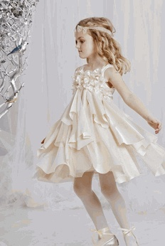 """Biscotti """"Glimmer in Gold""""  Champaigne Delight Little Girls Holiday Dress SZ 4"""