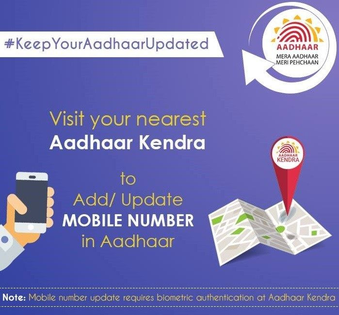 How To Change Update Register Link Mobile Number To Aadhar