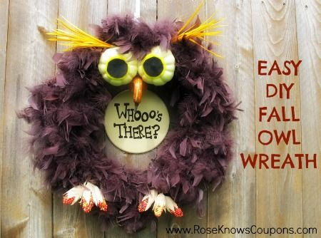 Easy DIY Fall Owl Wreath!- What Rose Knows