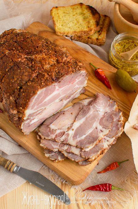 пастрами из свинины рецепт, как приготовить пастрому, пастрами из ошейка