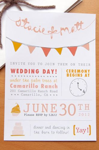 8 Unique Handmade Wedding Invitations from Etsy: Gabriella Sanchez. #Stylish365