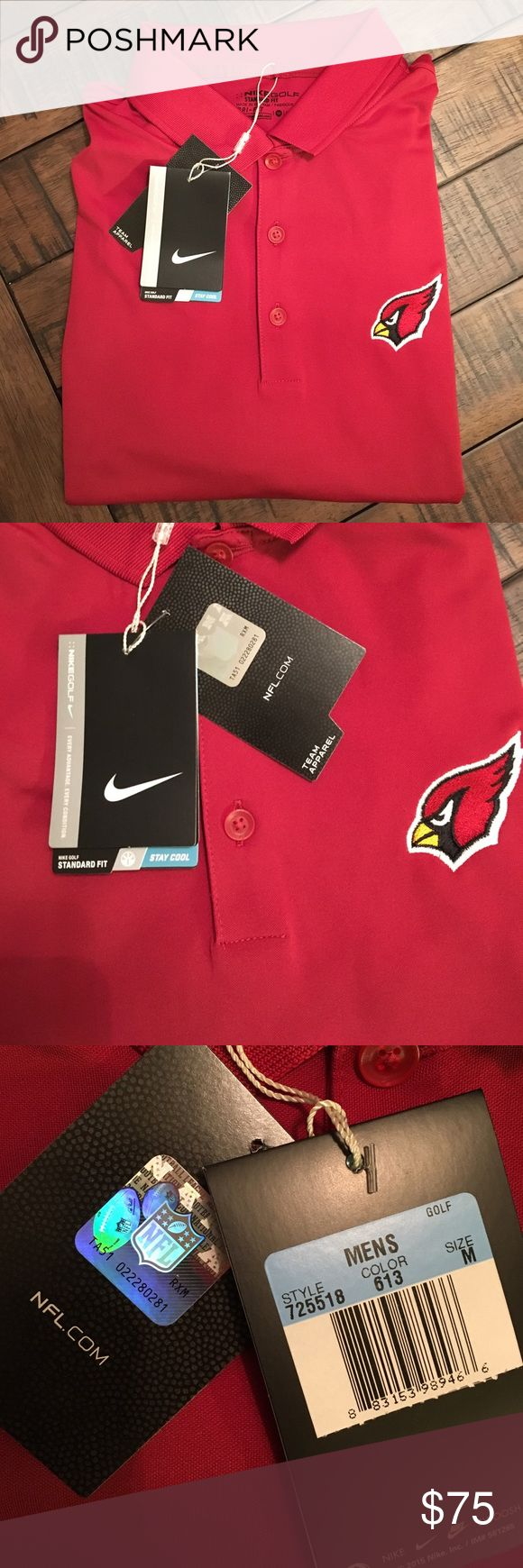 MEN'S NIKE ARIZONA CARDINALS DRI-FIT POLO Brand new with tags! Only taken out of the plastic to take photos! This polo is fantastic and a must have for casual wear or if you're a golfer! Football season is in full swing! 🏈🏈🏈🏈🏈Will discount when bundled with another item. Will consider offers. No low balling please. Nike Shirts Polos