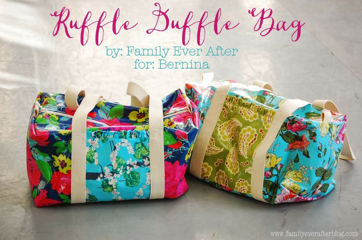 Family Ever After....: Ruffle Duffle Bag (Free Pattern + Tutorial)