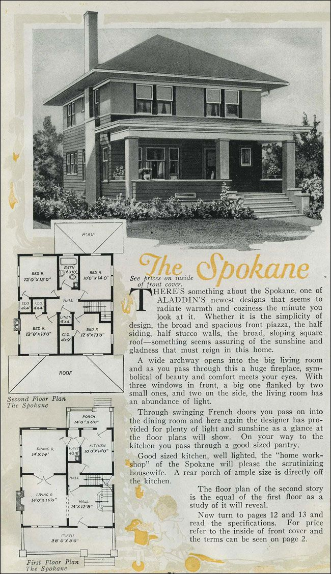 1920 Aladdin Spokane Floor Plans Pinterest