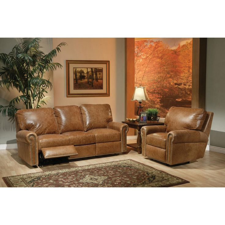 kathy ireland Home by Omnia Furniture Fairfield Leather ...
