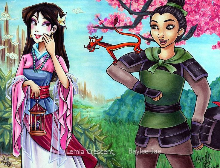 Mulan Collaboration by Baylee-Jae.deviantart.com on @DeviantArt - Collaboration with fellow artist Lemia Crescent