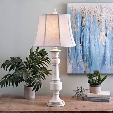 Caden Distressed Cream Table Lamp