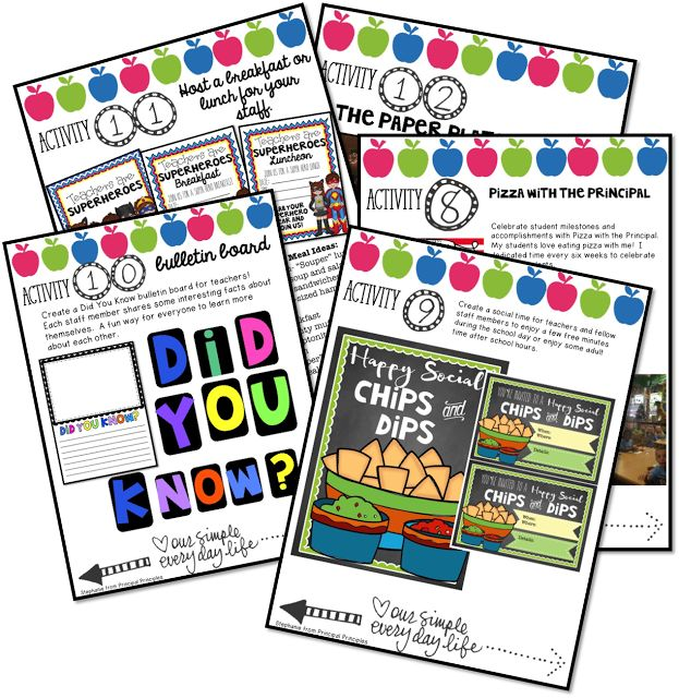 Principal Principles: 12 Activities to Boost Staff Morale- Print and Go!