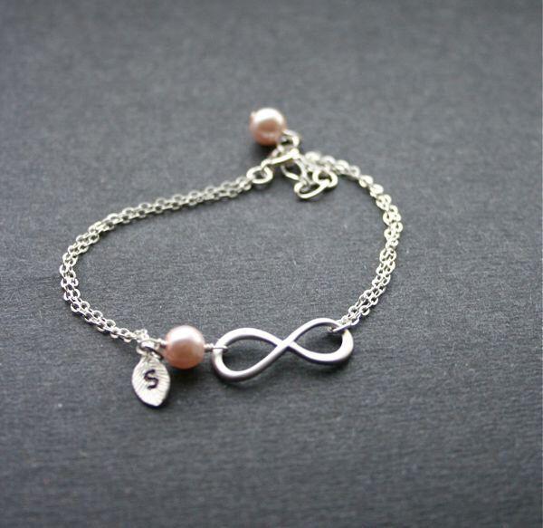 Infinity Bracelet, Personalized Bracelet, Custom Initial, Love Bracelet, Infinity Symbol, Friendship, Sterling Silver by smilesophie on Etsy https://www.etsy.com/listing/169439446/infinity-bracelet-personalized-bracelet