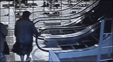 The nanna that doesn't quite get escalators: | 11 People Who Are Having An Awkward Time Right Now