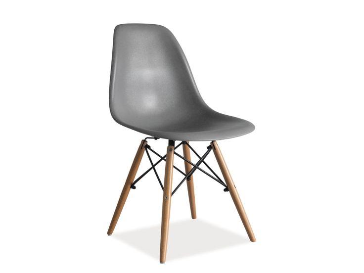 Krzesło ENZO insp. EAMES, szare