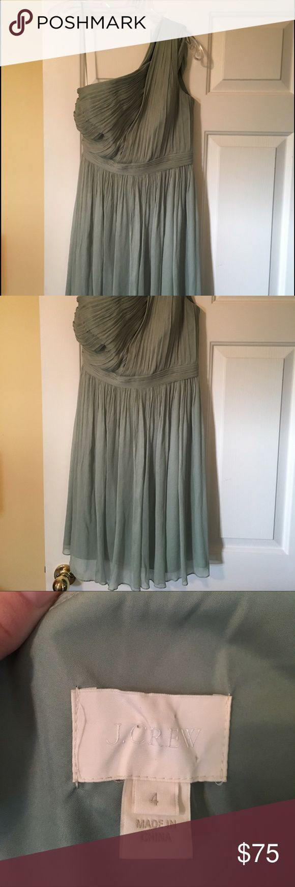 J Crew bridesmaid dress Beautiful one shoulder dress with 2 straps! Only wore once. Excellent condition. Will take best offer!! Dresses One Shoulder