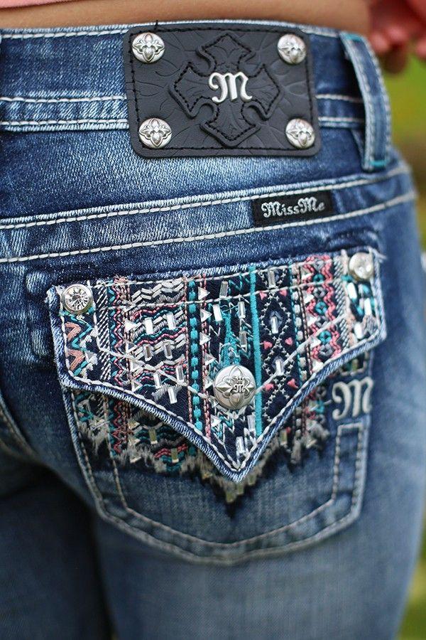 Aztec Sunset Bootcut Jeans