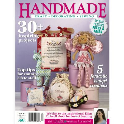 Handmade - Volume 30 No.7 ($1.95). Find out more at: http://www.patchworkandcraft.com.au/digital-magazines/hm-30-7.html