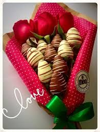 Image result for ramo de fresas con chocolate