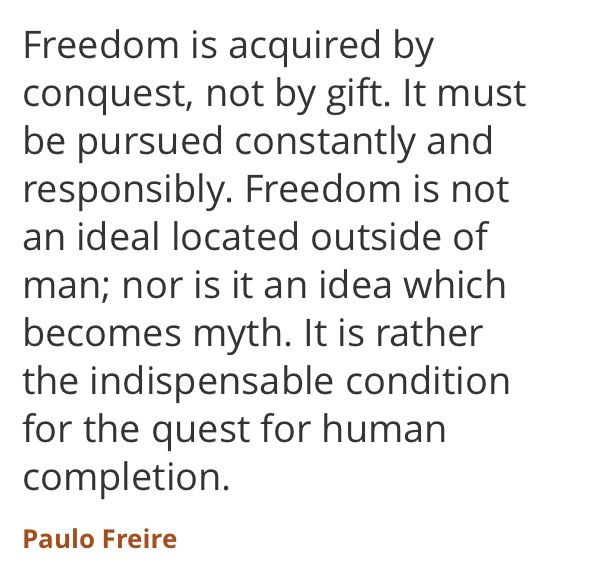 paulo freire letter 6 Paulo freire is regarded by many as the most significant educational thinker of the twentieth century 6 letters to cristina freire,paulo published by routledge.
