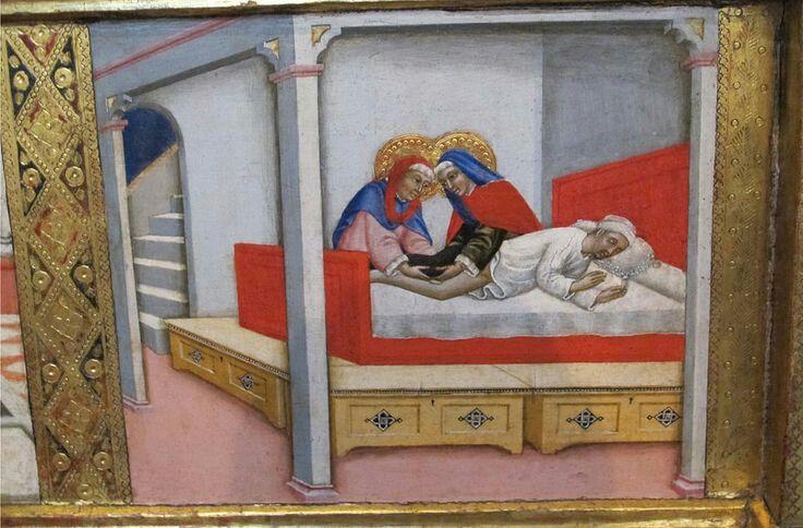 Predelle  di polittico  con vite  dei Santi Cosma e Damiano