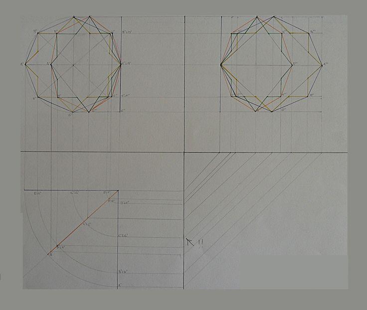 proiezioni ortogonali figura piana che ruota su P.O.