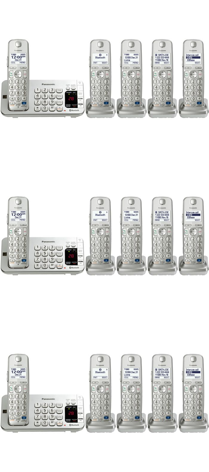 Other Home Telephones: Panasonic Kx-Tgd223n 3 Handset