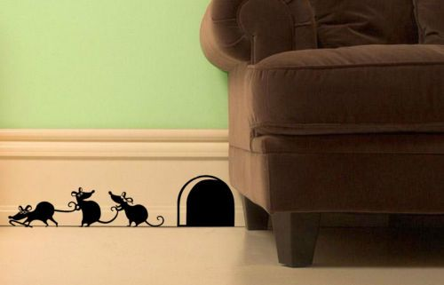 Funny '3 Blind Mice' Wall Stickers for Doors, Walls, Skirting. | eBay