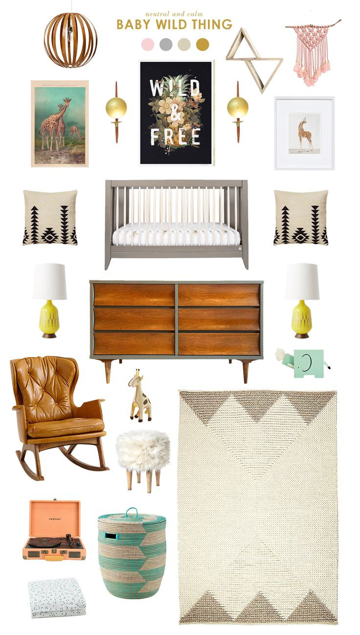 Baby Wild Thing: A neutral adventure nursery inspired by the giraffe diaper print by Honest. #DreamTeam #PinToWin