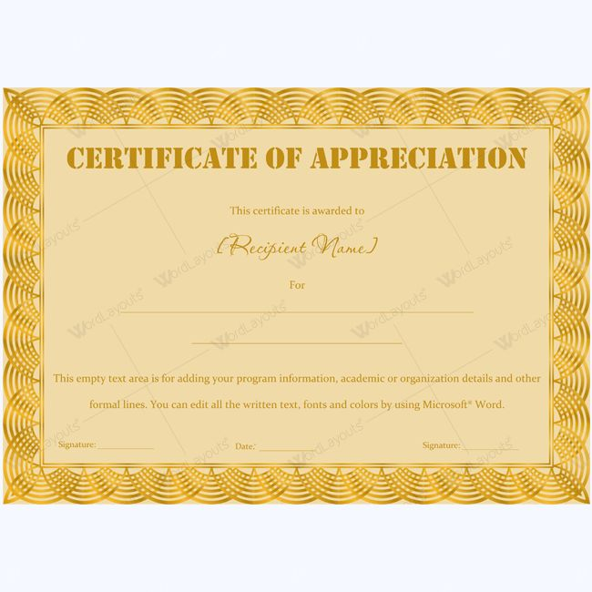 Certificate Of Appreciation Wording Examples #appreciationcertificate #certificatetemplate #appreciation #appreciationtemplate