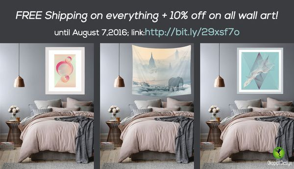 Free shipping on everything+10% off on all wall art!