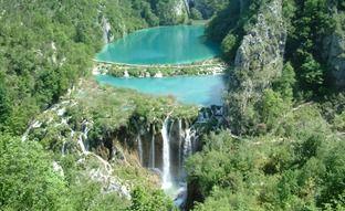 Plitvice Lakes, Waterfall in Croatia