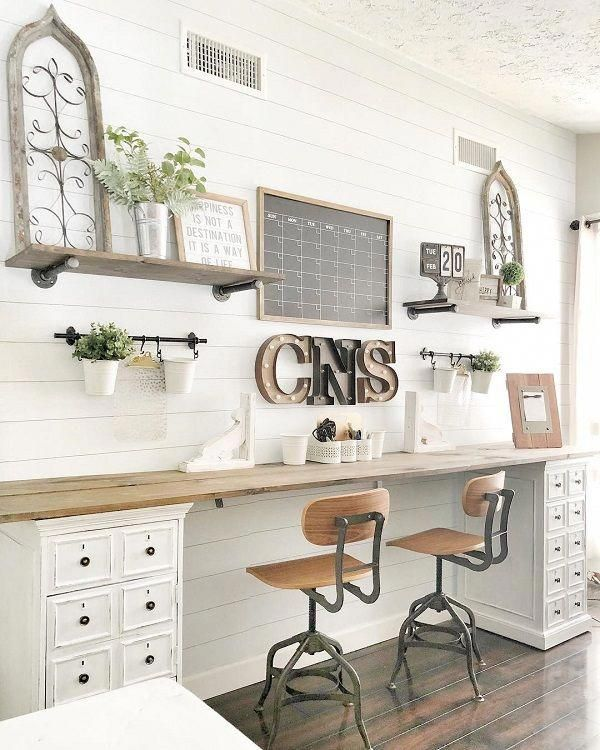 100 Charming Farmhouse Decor Ideas For Your Home Office You Have