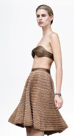Gorgeous crochet skirt, inspiration. Alexander Lewis