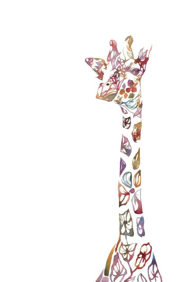 *キリンさん* by piroki アート・写真 イラスト | ハンドメイド、手作り作品の通販・販売サイト minne(ミンネ)